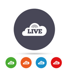 live sign icon on air stream symbol vector image