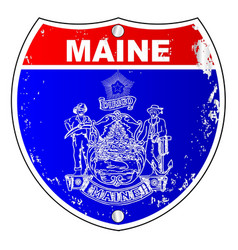 Maine flag as a interstate sign vector