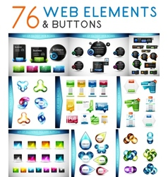 Mega set of web elements vector image