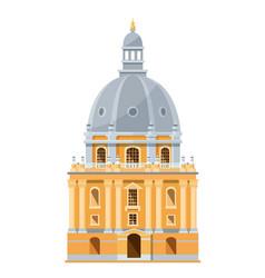 Modern exterior building british university vector