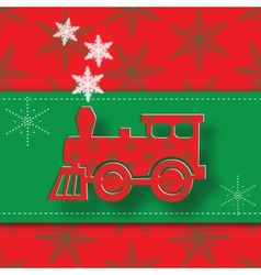 New Year image of the steam locomotive vector