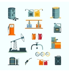 Oil and petrol industry objects vector image
