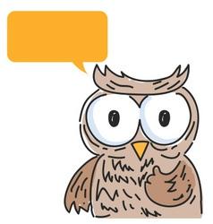Owl Balloon Talk vector image