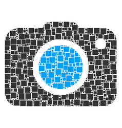 Photo camera collage of squares and circles vector
