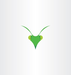 praying mantis icon clip art vector image