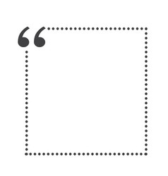 quote bubble blank vector image