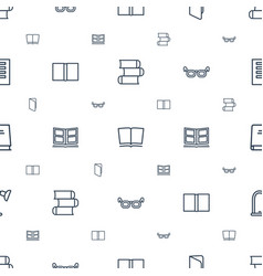Reading icons pattern seamless white background vector