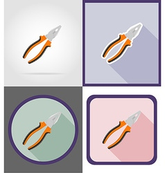 repair tools flat icons 03 vector image