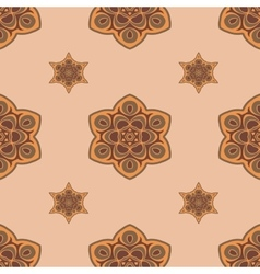 Seamless brown background boho chic vector