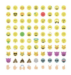 Set of emoticon isolated on white background vector image