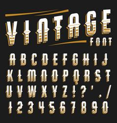 Set vintage font vector