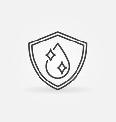 shield with water drop linear concept icon vector image
