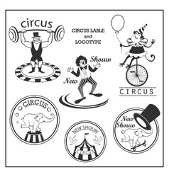 Sketch circus lable and logotype in vintage style vector