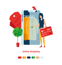 smartphone shopping vector image