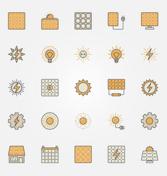 solar energy colorful icons vector image