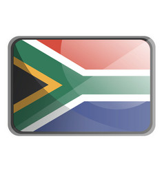 south africa flag on white background vector image