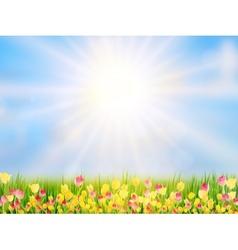 Spring easter background eps 10 vector