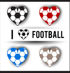 sticker set design template for football vector image