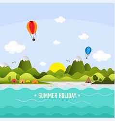 Summer holiday background template vector