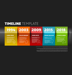 timeline template vector image