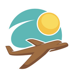 travel agency icon template tourism vector image