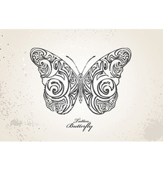 Tribal butterfly vector