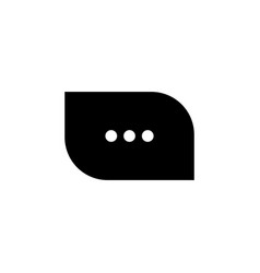 typing in a chat bubble icon comment sign symbol vector image