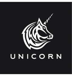 Unicorn logo icon style trend beautifully flat vector image vector image
