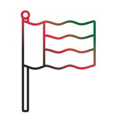 United arab emirates flag neon lines vector