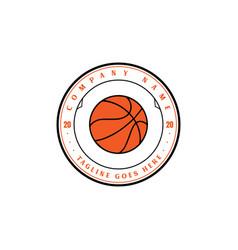vintage retro basketball sport team club badge vector image
