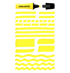 Yellow hand drawn highlight lines layered boxes vector