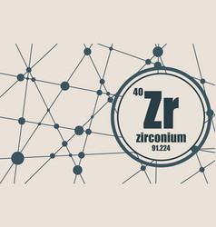 Zirconium chemical element vector