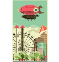 Carnival City Park vector image