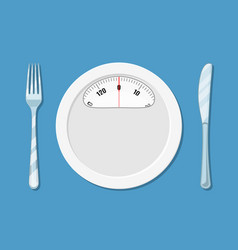 diet meal concept vector image