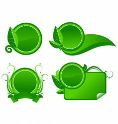 ecological label vector image vector image
