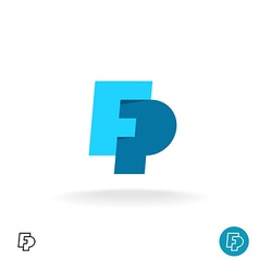 F and P letters logo vector image vector image
