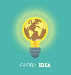 global idea vector image vector image