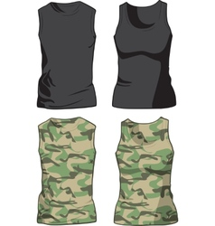 Black and military shirts template vector