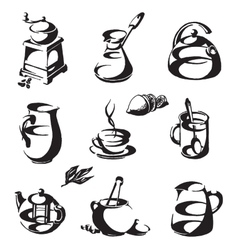 coffee and tea logo design template cup or vector image
