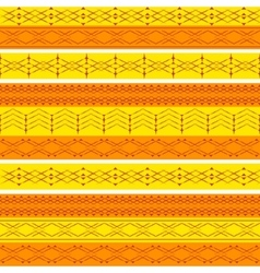 Ethnic geometry seamless pattern vector image