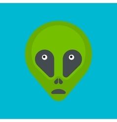 Green cartoon aliens head isolated vector