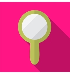 Hand mirror flat icon vector image