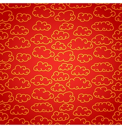 National chinese seamless pattern with cloud vector image