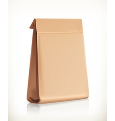 Paper bag object vector image vector image