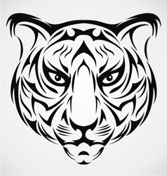 Tiger Head Tattoo Design vector image vector image