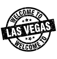 welcome to las vegas black stamp vector image