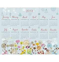 Decorative Calendar for 2013 vector image vector image