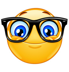 emoticon with eyeglasses vector image