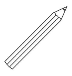 figure pencil color icon vector image