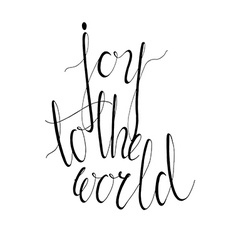 Joy to the world vector image